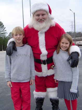 kids with Santa