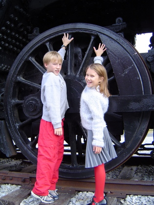 steam train engine wheel